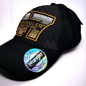Wrangler Mens 47 Cap, Black, Wrangler Orig Est